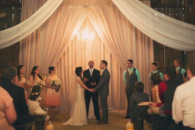 Элегантная свадьба в стиле винтаж. Фото: Alixann Loosle Photography