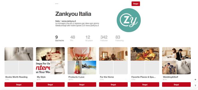 Segui Zankyou su Pinterest