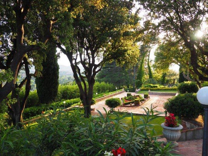 Parc paysager pour une réception de mariage