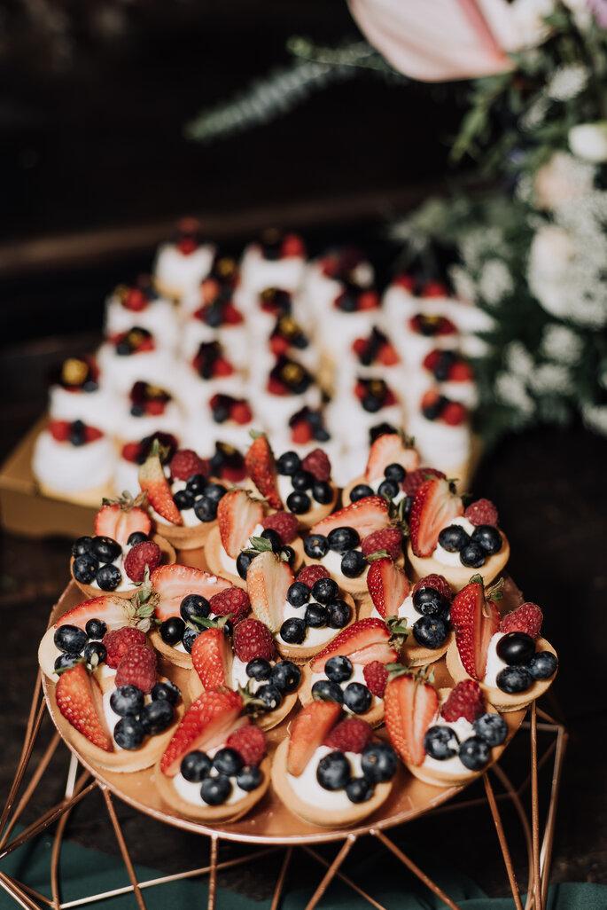 Pasabocas dulces con frutos silvestres