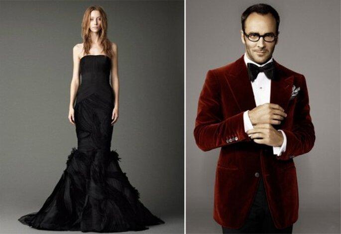 El look de novia y novio inspirado en Halloween - Foto Vera Wang y Vanity Fair