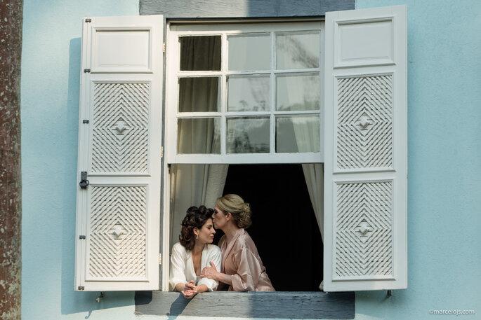 noiva na janela making of
