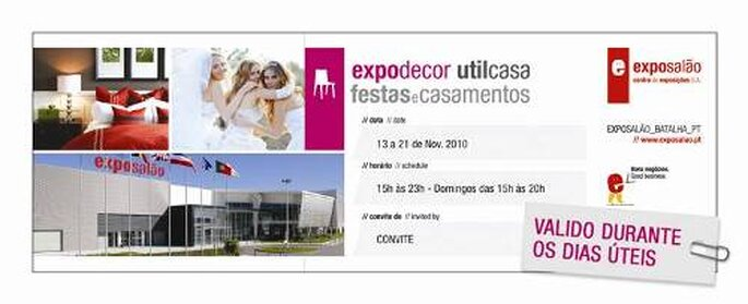 Convite para a feira FESTAS & CASAMENTOS