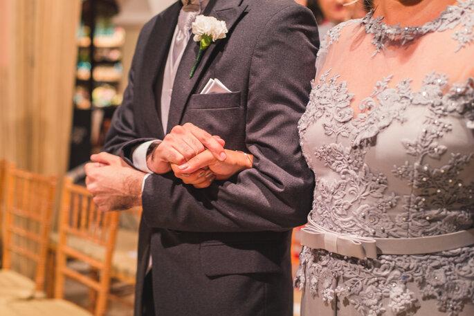 foto de mãe e noivo