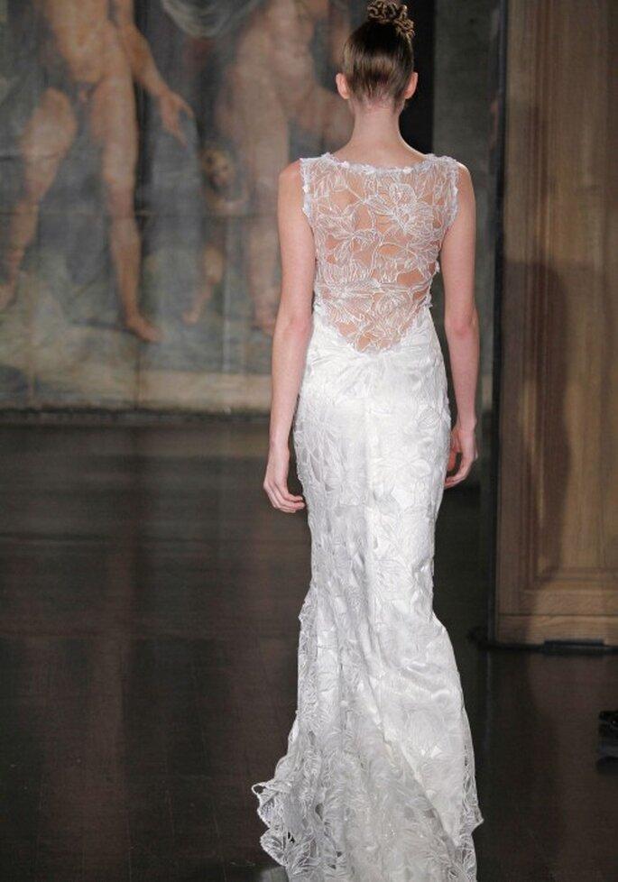 Vestido de novia con encaje en la espalda - Foto Claire Pettibone