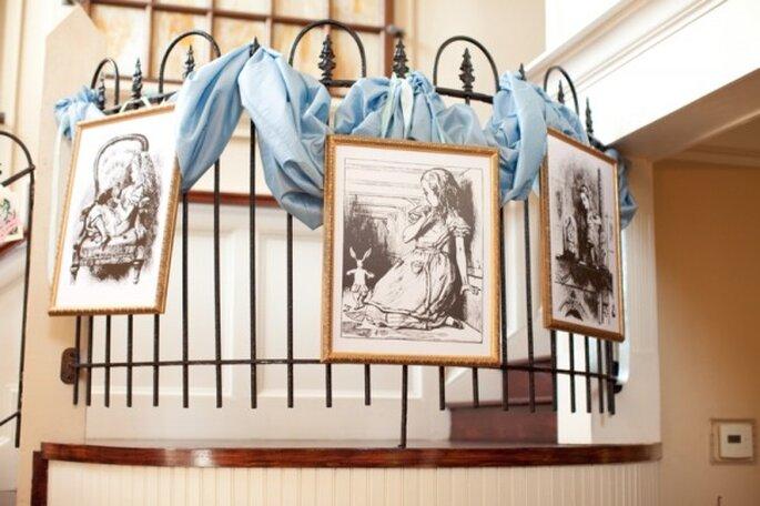 Textiles decorativos en color azul polveado - Foto Andi Grant Photography