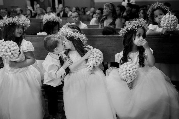 Damas e pajens no casamento