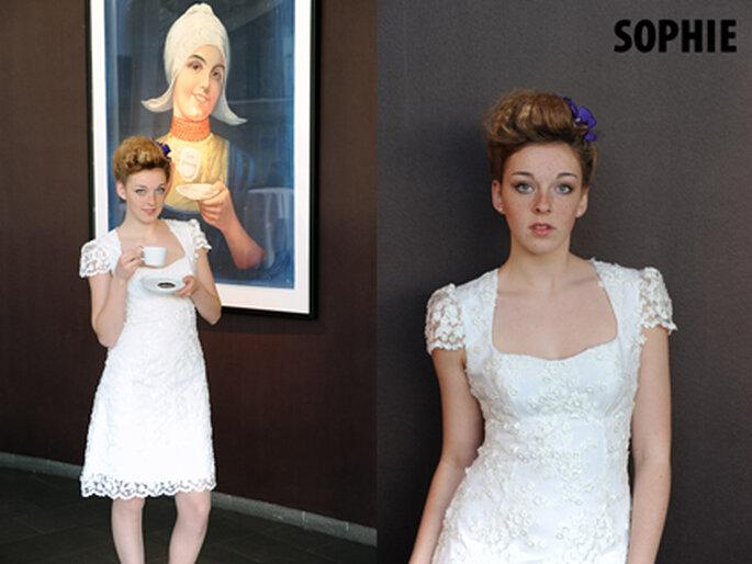 1 Modell Sophie aus der Kollektion von Marion Muck.