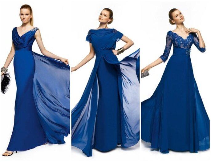 Top chique, um vestido azul Pronovias 2013. Foto www.pronovias.it