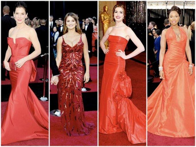 De izquierda a derecha: Sandra Bullock, Penelope Cruz, Anne Hathaway, Jennifer Hudson