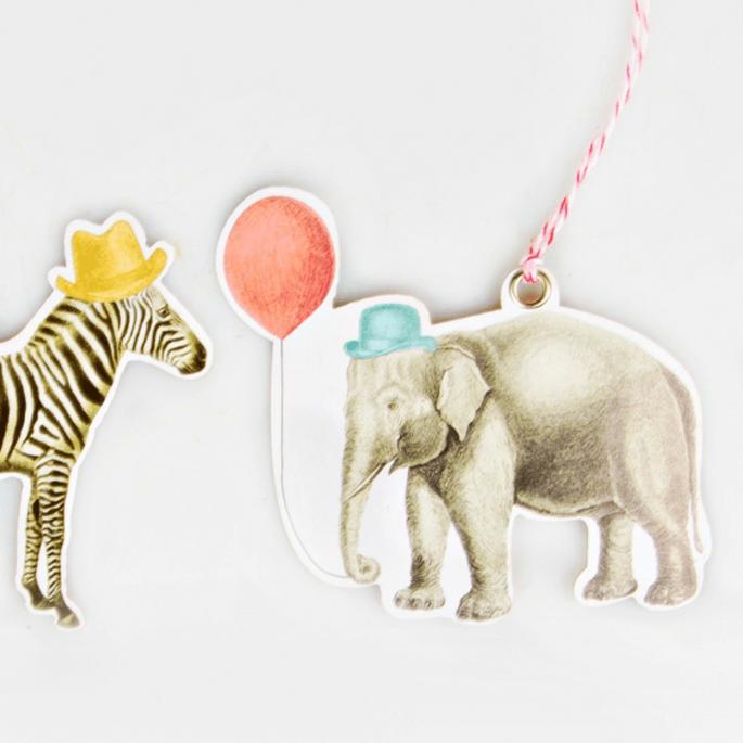 Photo : Décorer le bonheur - étiquettes animaux cirque rétro