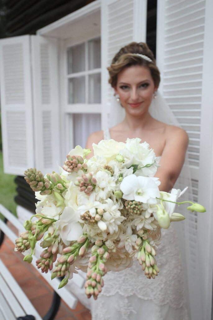Casamento romântico jardim secreto