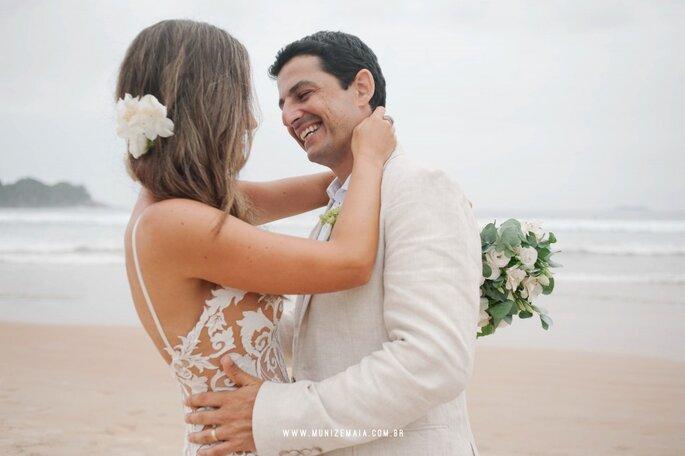 ensaio noivos casamento praia