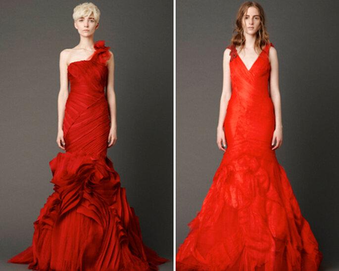Vestidos de novia en color rojo - Foto: Vera Wang 2012