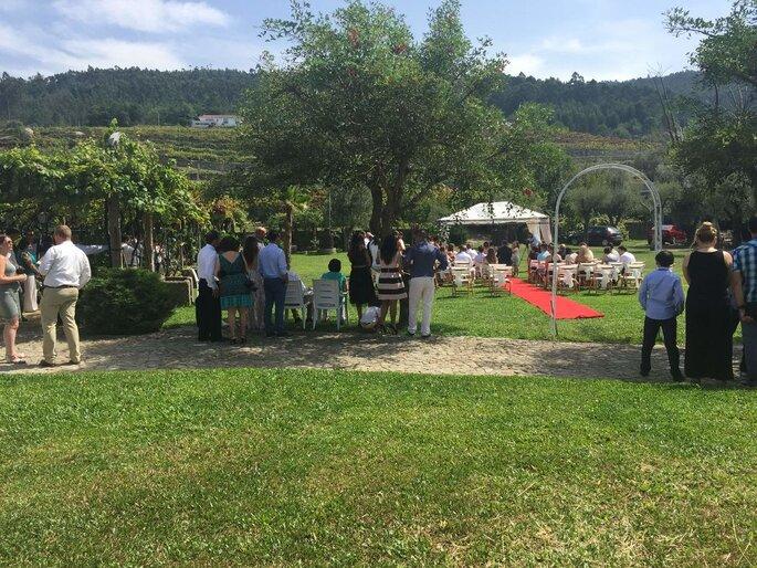 Cerimónia civil no Solar de Merufe