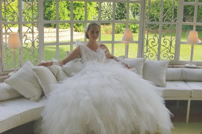 Robe de marié froufrou