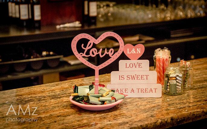 Corazones y amor para repartir a los invitados. Foto: Andreas Metz
