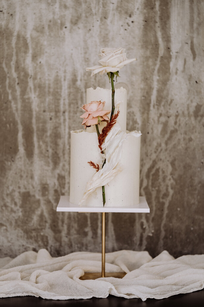 Skandi Chic - Hochzeitskonzept im skandinavischen Stil Hochzeitstorte