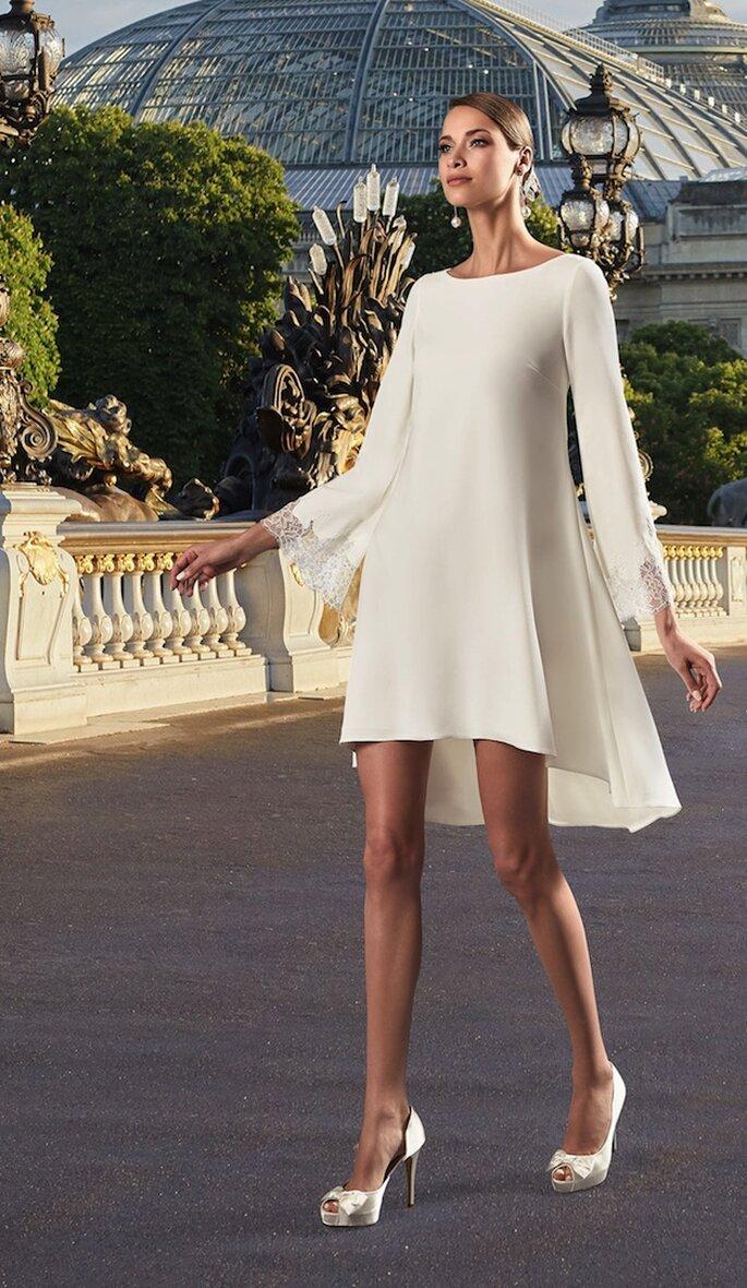 Robe de mariée simple - courte