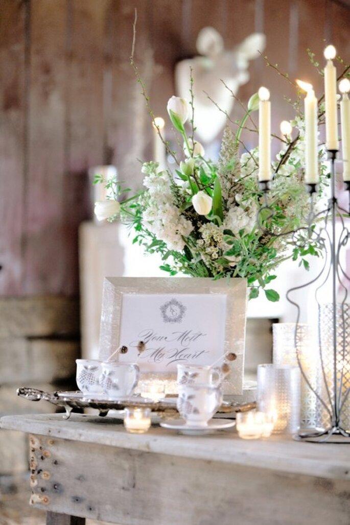Una boda en invierno saca a relucir tu lado más creativo en la decoración - Foto Leslie Mitchell