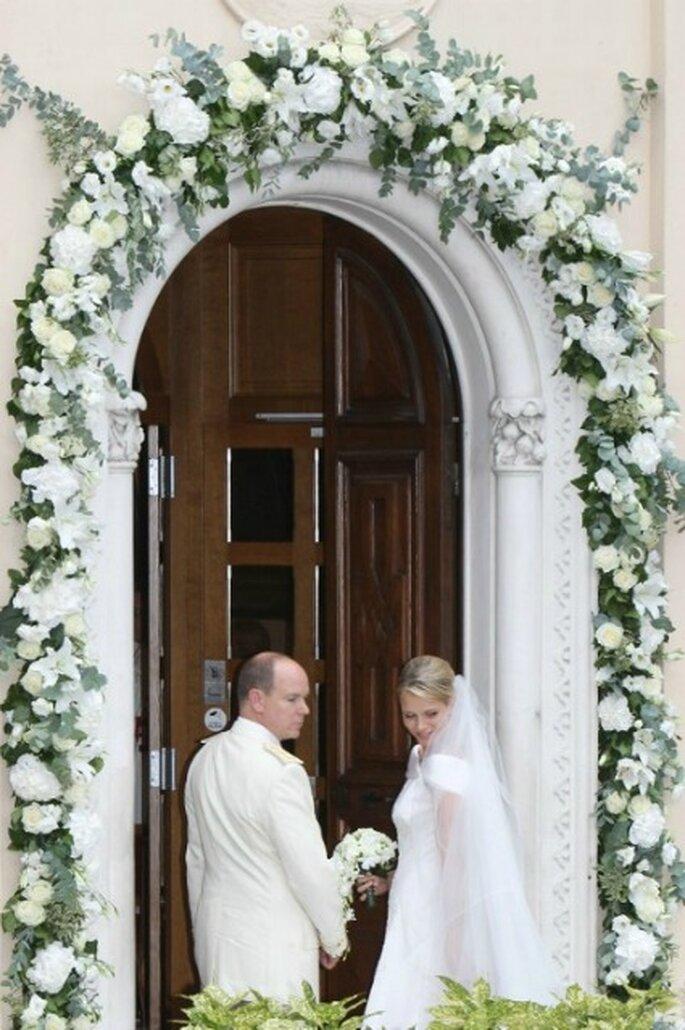 Arco de flores en Santa Devota