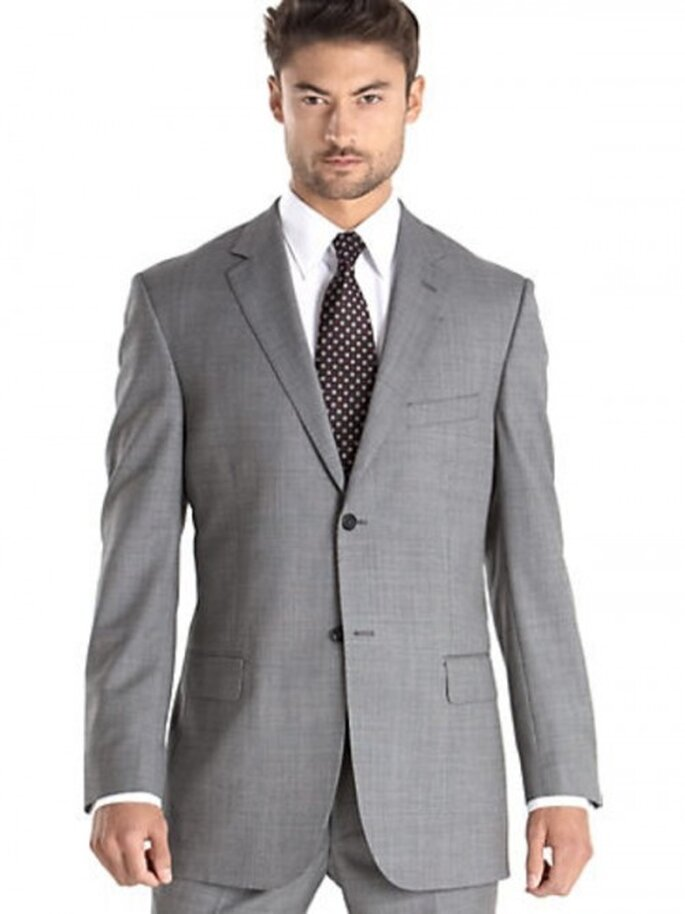 Traje Pronto Uomo color gris claro, $799.99USD