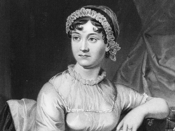 Jane Austen en un retrato familiar de 1775.