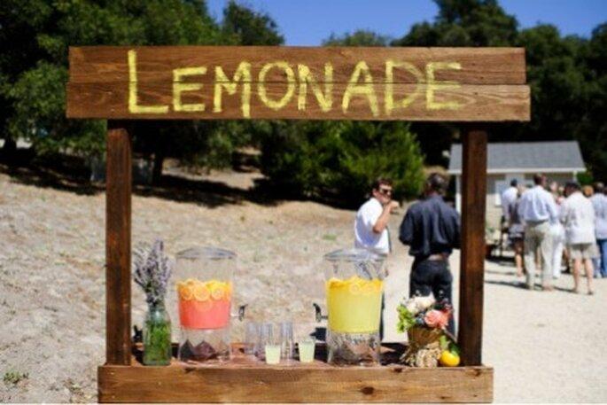 Como si fuera una kermesse, puestos de limonadas