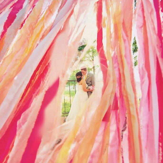 Decoracion de boda 2013 en colores rosa fiusha y dorado - Brides Facebook