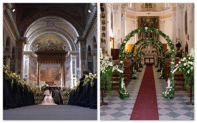 Due esempi di decorazione: uno semplice e uno piú originale con archi