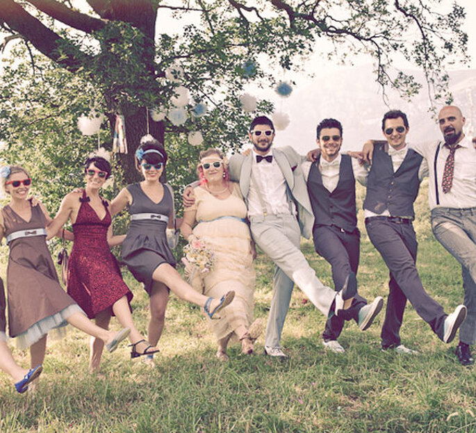 Mariage hipster - Photo: Exquisite Weddings