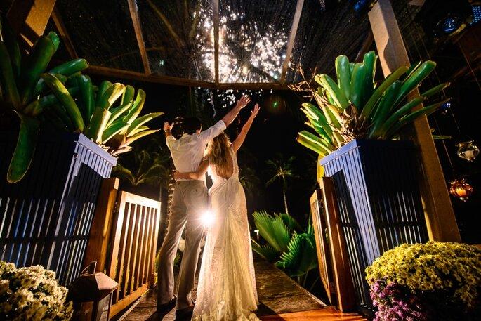 Fogos de artifício em casamentos