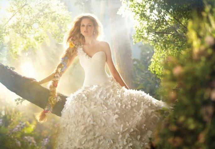 Vestido de novia inspirado en Rapunzel - Foto Alfred Angelo