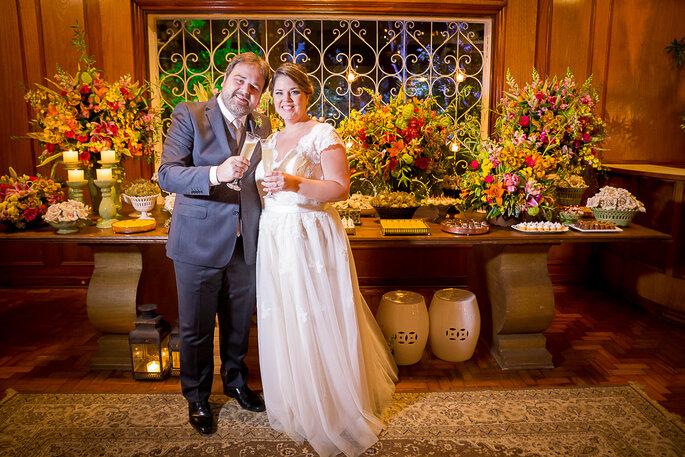 brinde dos recém-casados
