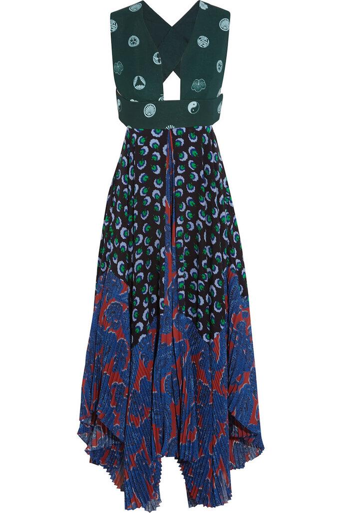 Vestidos de fiesta con estampados coloridos inspirados en los años 70 - Stella McCartney en Net a Porter