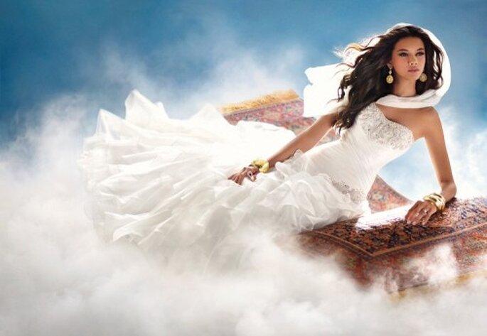 Vestido de novia inspirado en la princesa Jasmin - Foto Alfred Angelo