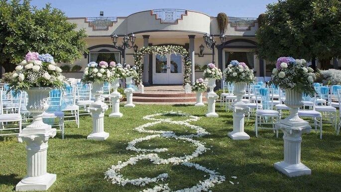 Villa Andrea di Isernia - cerimonia nuziale all'esterno