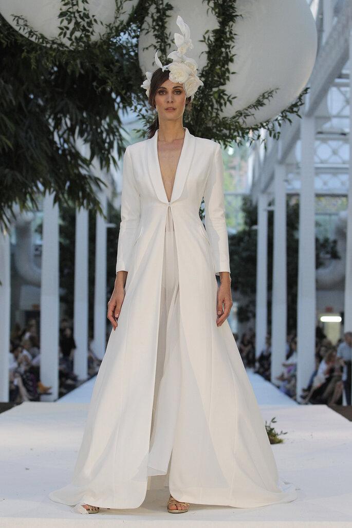 Robe de mariée longue pour un mariage civil ou à la mairie