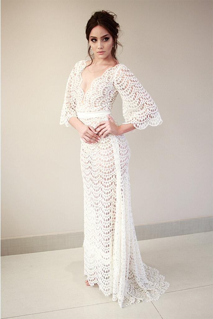 lindo vestido de noiva rendado