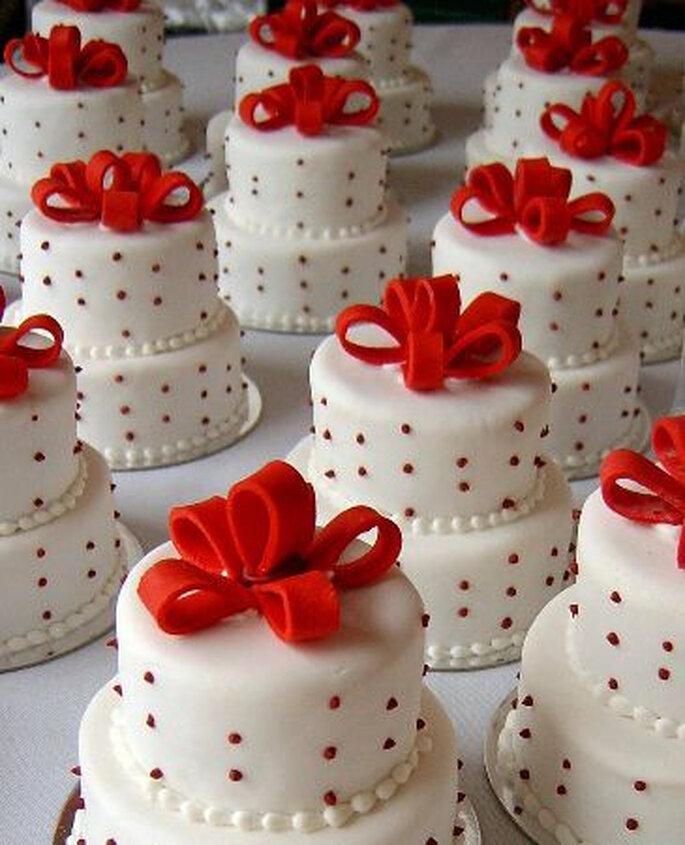Mini wedding cake segnaposto proposte da Mariage & Glamour
