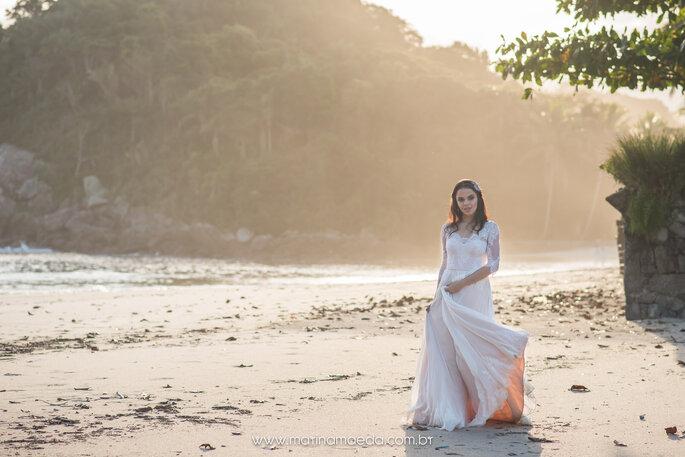 Ensaio de noiva na praia