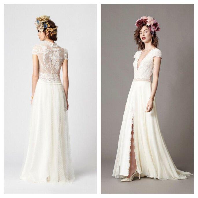Robe de mariée en dentelle contemporaines