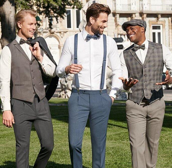 Haus der Braut & Gentleman 3 Männer im Anzug und Weste