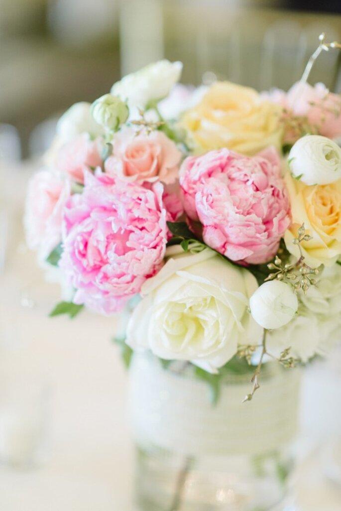 Peonías para decorar tu boda - Foto Paper Antler