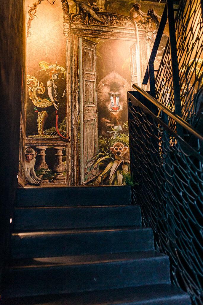 Einblick in das Treppenhaus des Hotel K7.