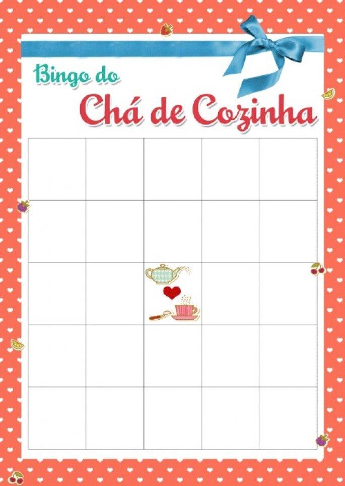 bingo da noiva - brincadeiras para o chá de panela