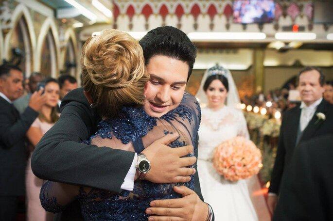 Abraço noiva