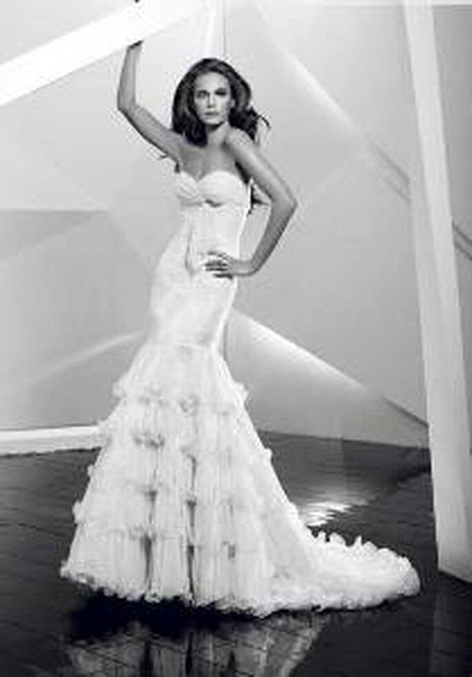 Vestido de novia - Pepe Botella - Vestido sirena, volados