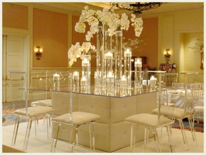 Las transparencias son ideales para la decoración moderna.