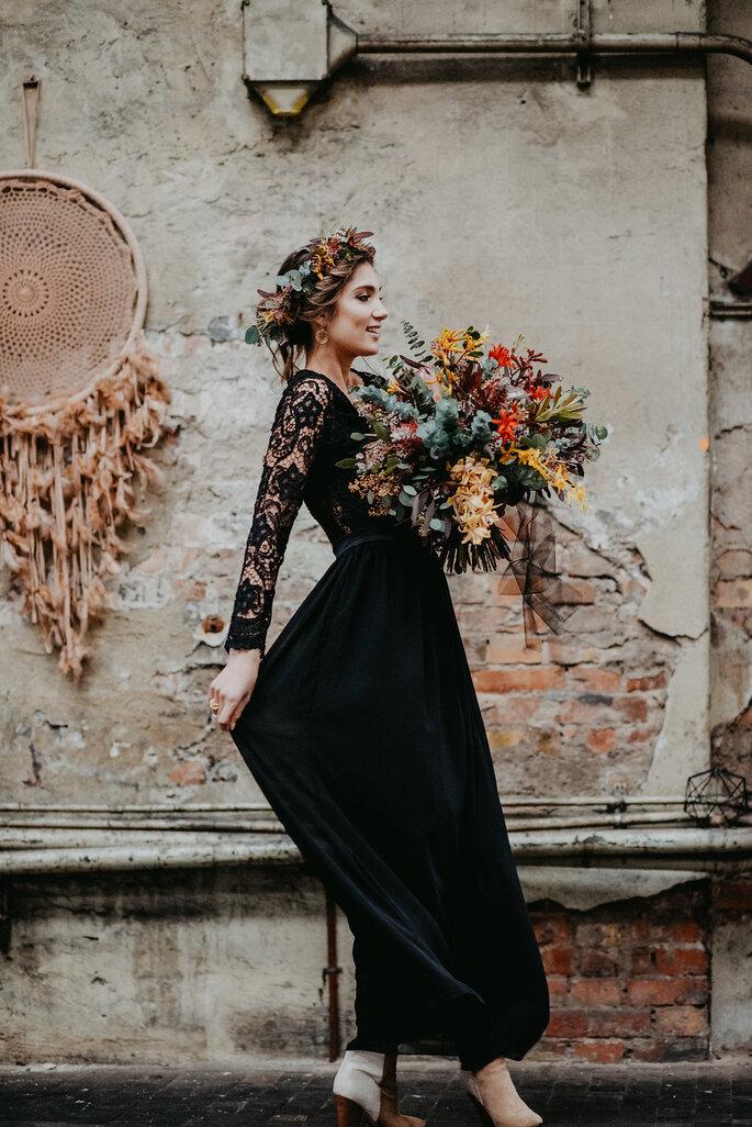 Brautkleid schwarz